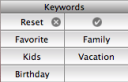 iPhoto Keywords Panel